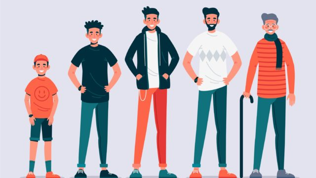 様々な年代の男性